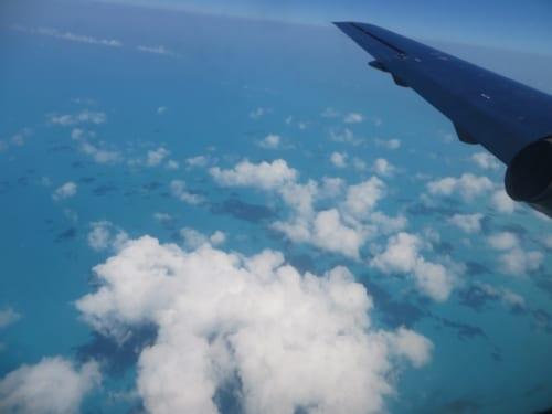 空から見るカリブも素敵です。